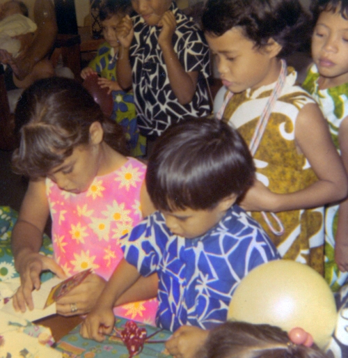 My 5th birthday party, Honolulu, Nov 1969
